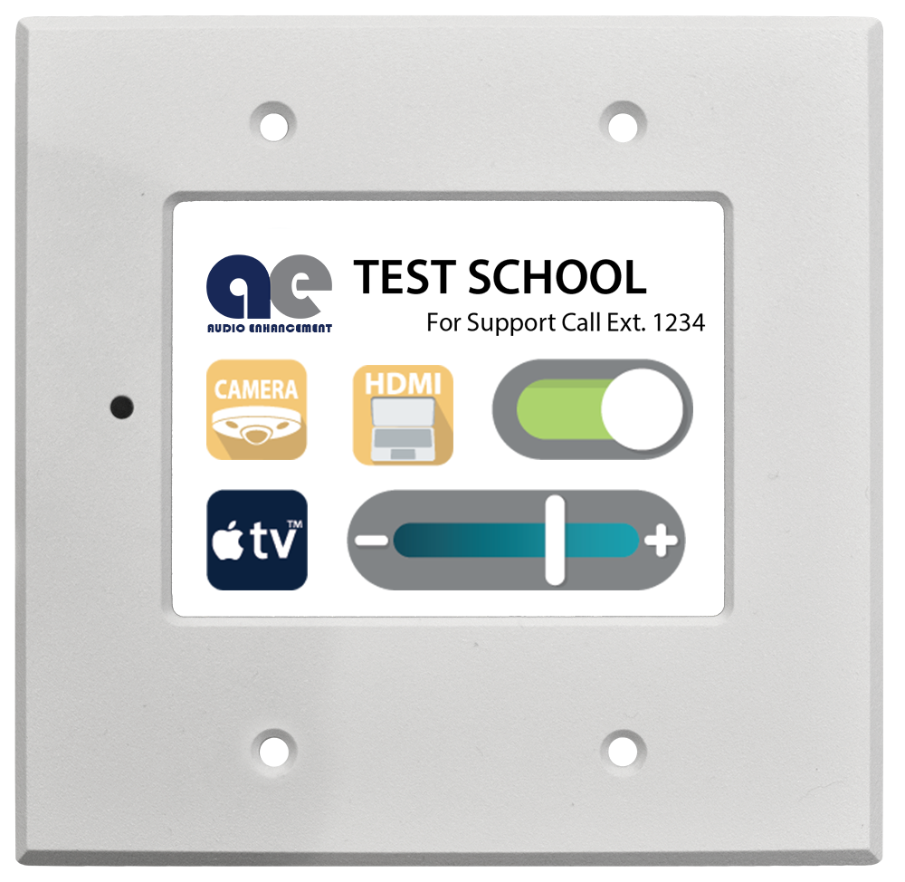 Classroom Audio Visual touch wall control panel