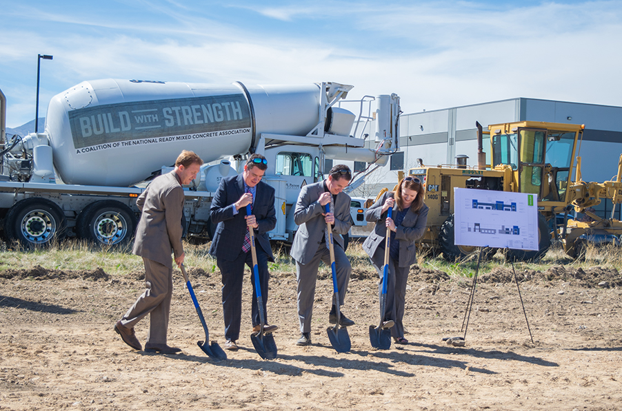 Audio Enhancement West Jordan Groundbreaking with 4 Andersons, owners